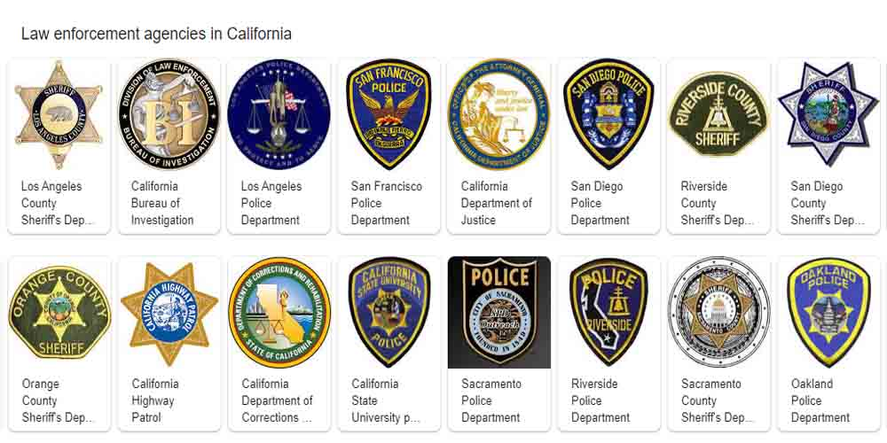 California Law Enforcement Agencies List