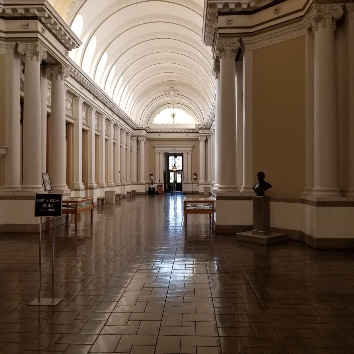Historical Landmarks of Riverside House Historical Court in California
