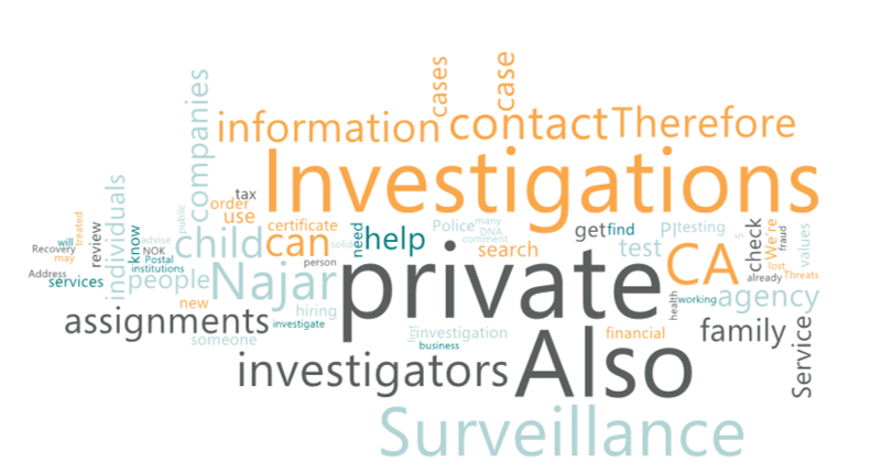 Best private investigator CA for Surveillance Investigations