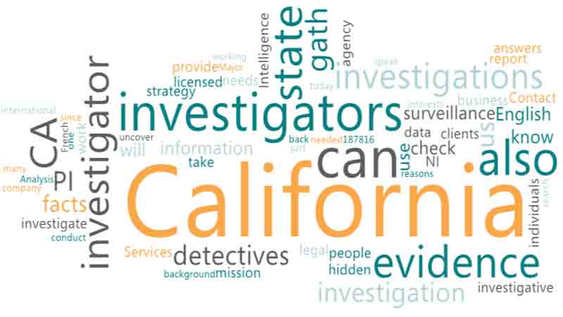 Looking for a private Investigator CA in California state