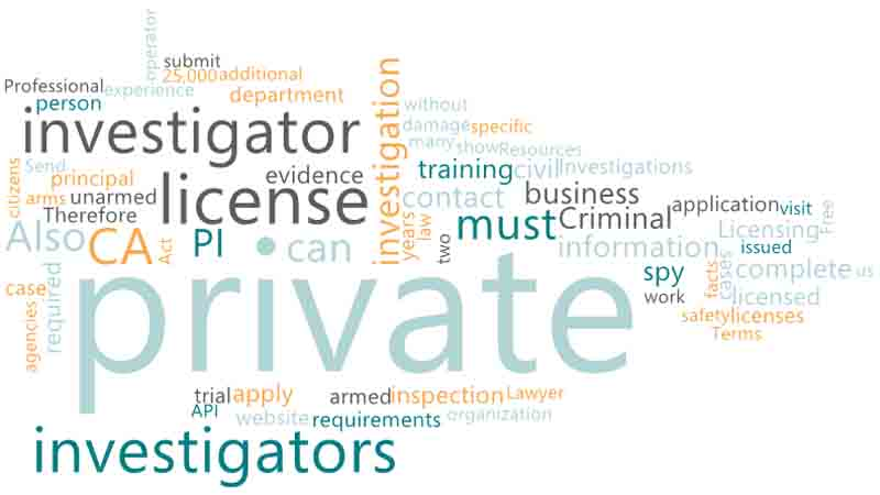 How to Become a Private Investigator CA in the United States