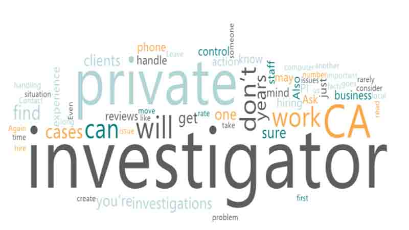 How to choose a private investigator CA in the United States