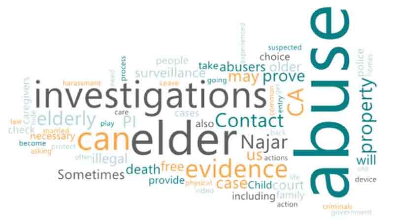 Hire a private investigator CA for Elder Abuse Investigation