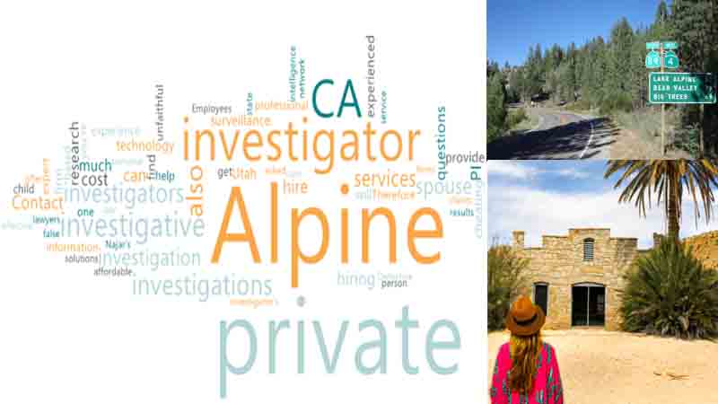Private Investigator CA in Alpine County for Missing Persons
